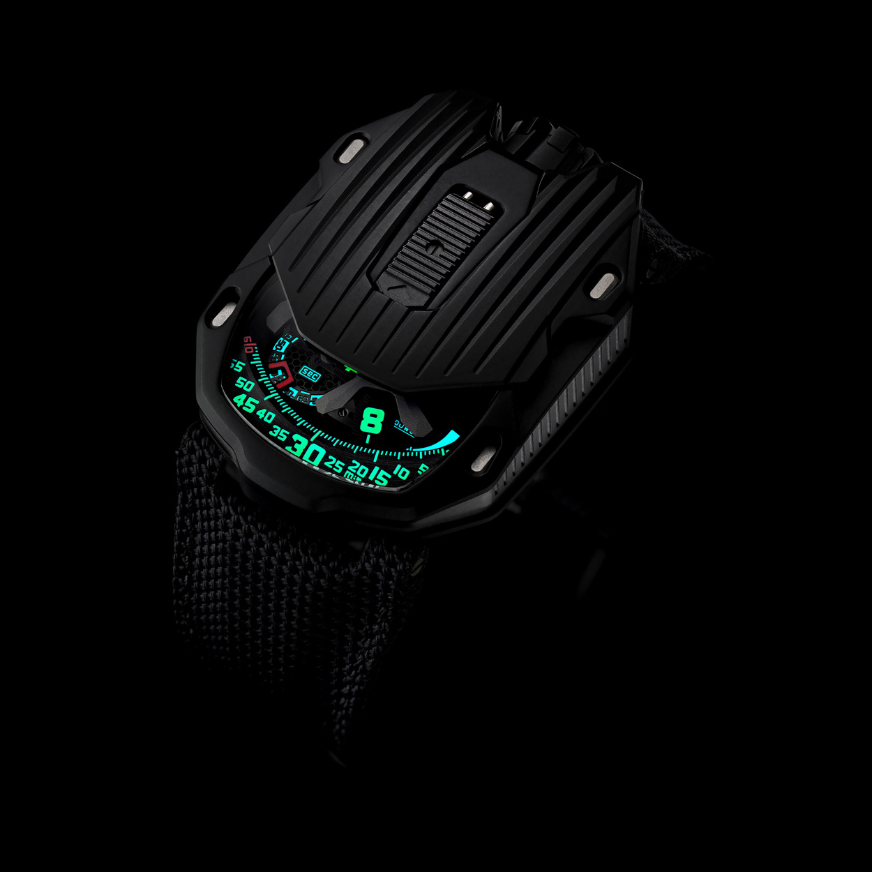 urwerk 105ct kryptonite lume superluminova