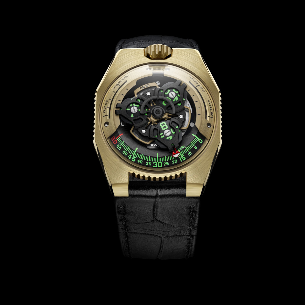 urwerk 100 c3po yellow gold