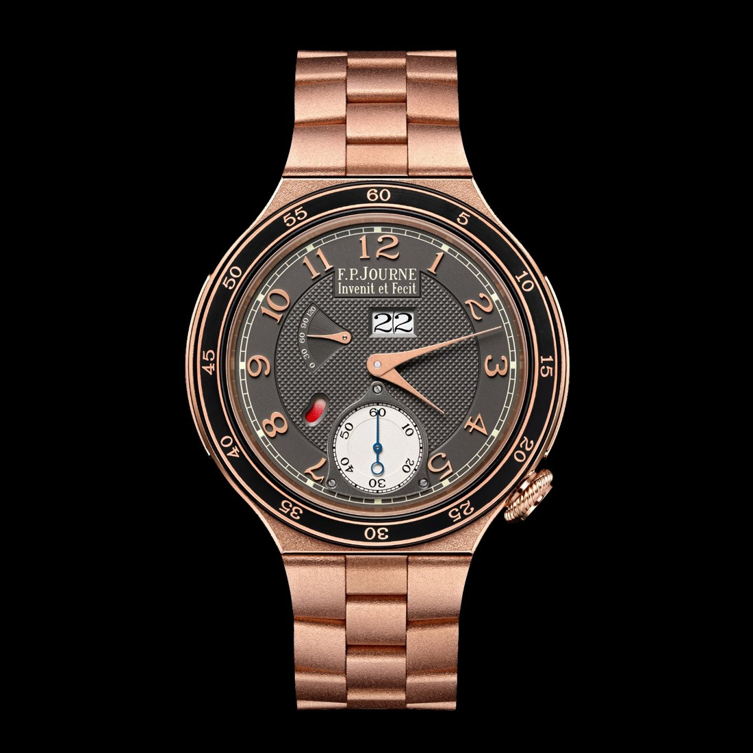 f.p.journe octa automatique sport rose gold integrated bracelet