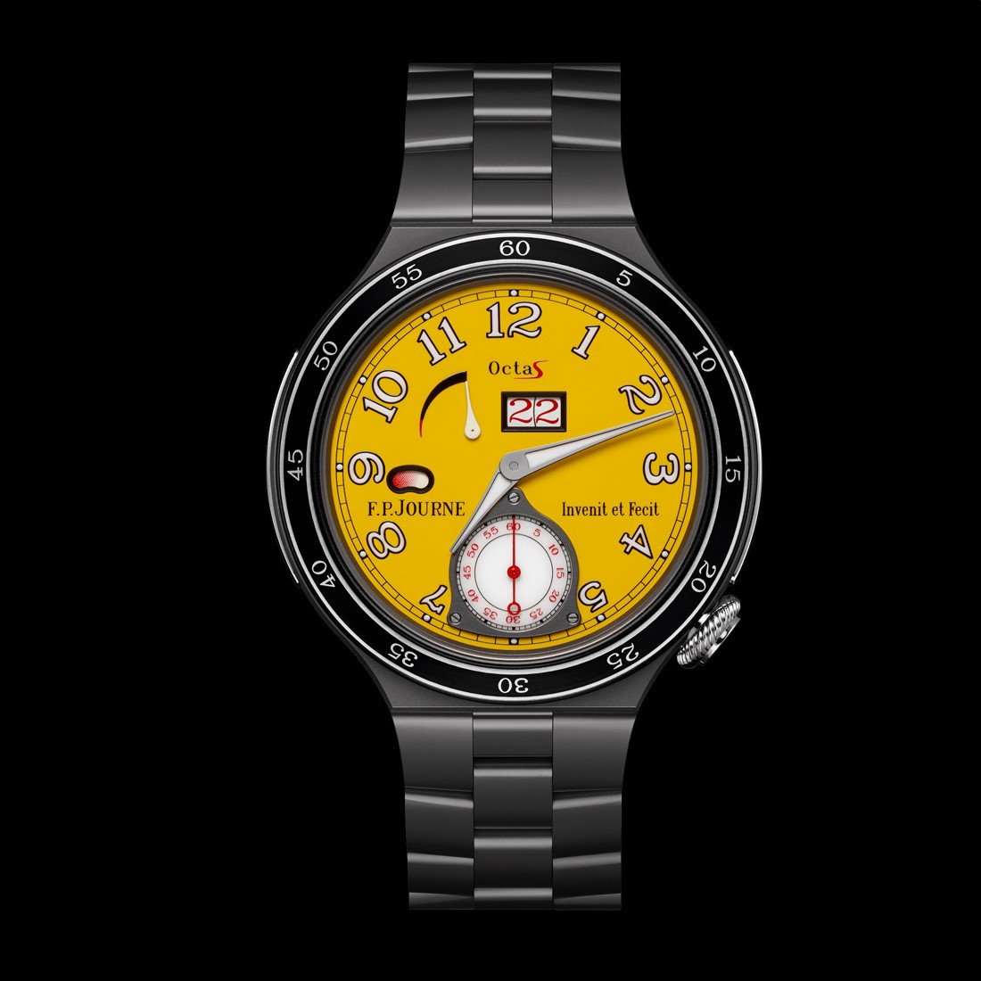 F.P.Journe octa sport automatique titanium yellow dial