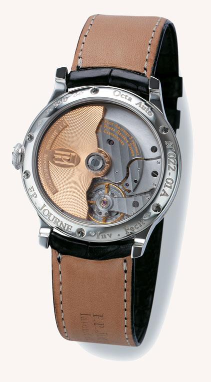 FPJ Brass movement, 22 ct gold rotor