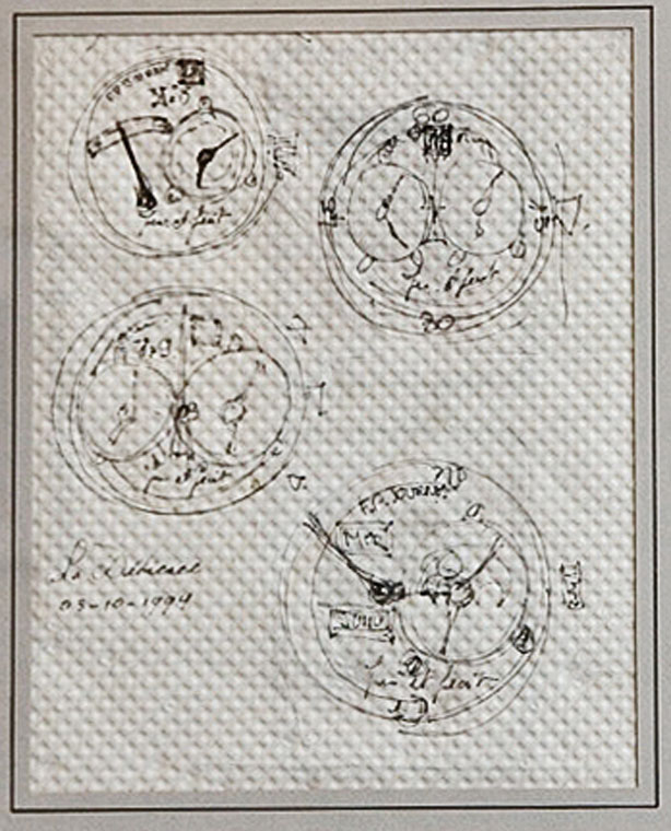 Placemat with Journe sketches