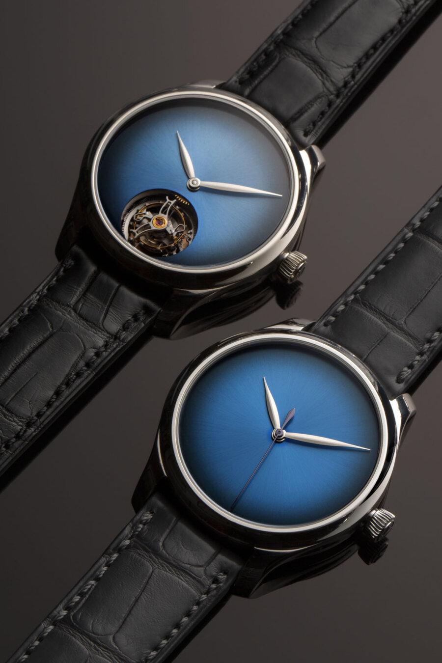 H. Moser & Cie. Endeavour Concept Funky Blue Fumé