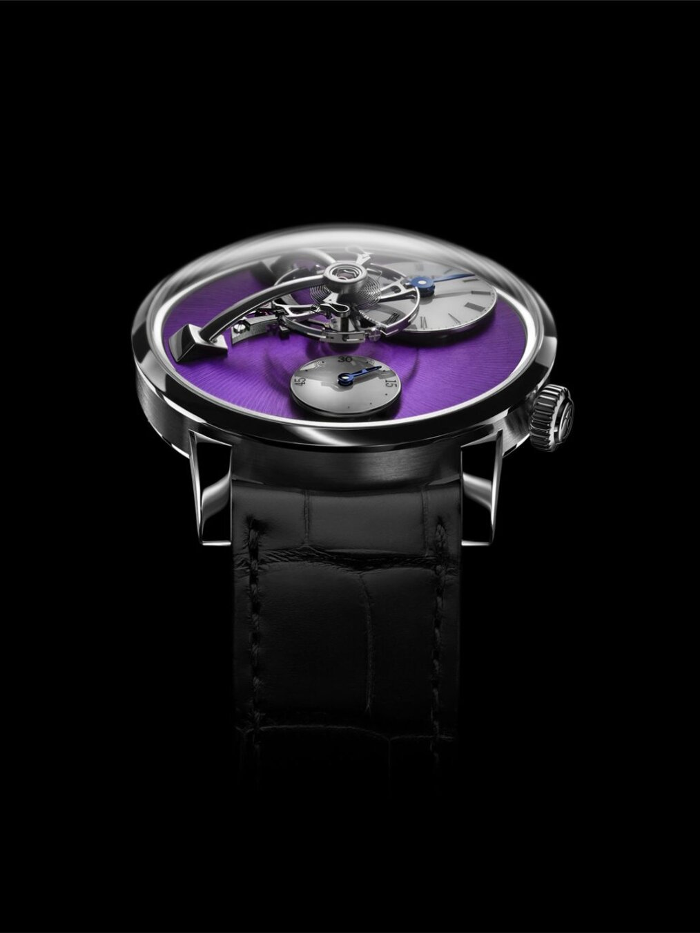 Legacy Machine 101 white gold purple dial