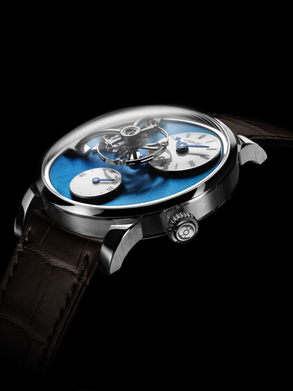 Legacy Machine 101 steel blue dial domed glass