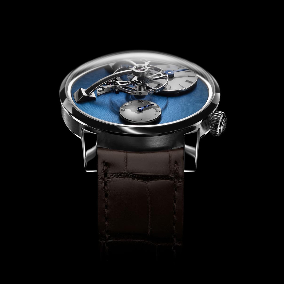 Legacy Machine 101 steel blue dial